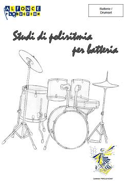 copertina studi di poliritmia per batteria